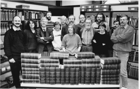 Redacteuren en assistenten van het Woordenboek der Nederlandsche Taal in 1993